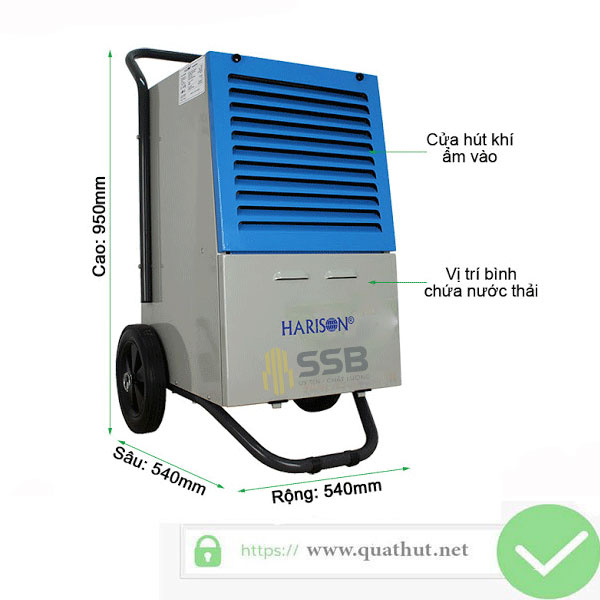 Máy Hút Ẩm Không Khí Harison HD-60B